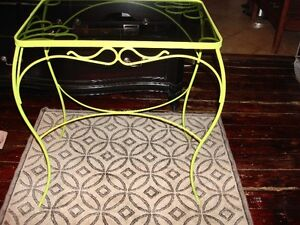 Original Table - Stunning Wrought Iron Glass - ONe of a Kind