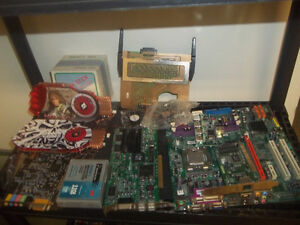 A bunch of NEW Computer parts and Wires