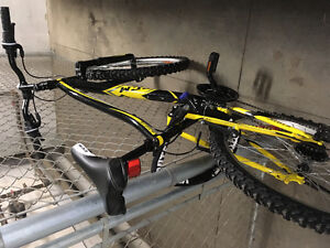Yellow CCM Mountain Bike