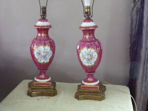 Matching Set of Antique French table lamps
