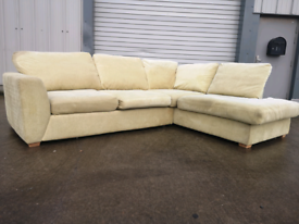 Green fabric dfs corner sofa couch suite 🚚🚚