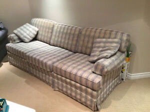 Couch - natural / cream / beige / oatmeal fabric upholstery