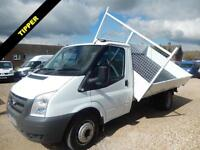 2011 60 FORD TRANSIT T350 3 WAY TIPPER 2.4 TDCI LIGHTWEIGHT BODY 27422 MILES DIE