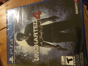 Sealed copy of Uncharted 4