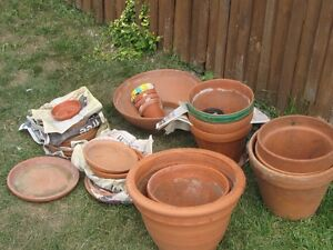 flower pots and bases