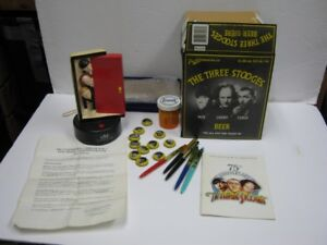 3 stooges assorted collectibles. mint condition. price is firm.