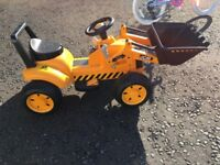 JCB battery operated digger/tractor