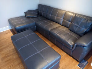 SECTIONAL (LEFT) GREY SOFA COUCH AND STORAGE SECTION BRAULT