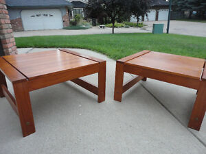 Two Midcentury Modern Teak End Tables/Coffee Tables $200 Each