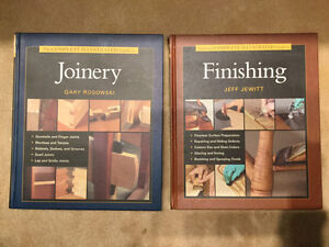 4 completely illustrated carpentry books new -