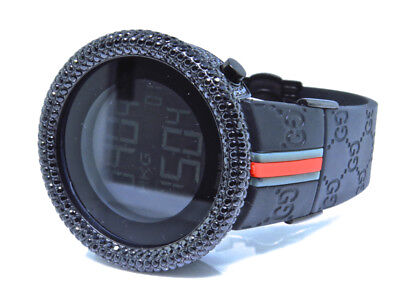 Mens Techno Art Joe Rodeo Bling Master Simulated Black Diamond Designer Watch