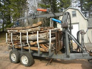 wood loader and trailer