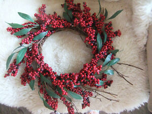 two decorative wreaths