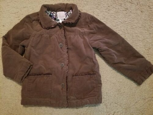 OLD NAVY Brown Corduroy Satin Lined Jacket Girls Size 5T