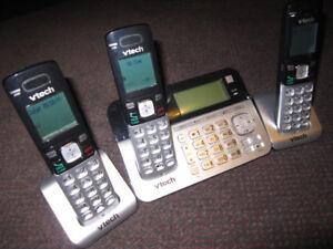 VTECH CS6858-3 Cordless Phone 3 Handset Answering System $29.00