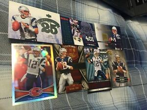 7 Mixed Tom Brady Football Cards - 1 Topps Chrome Refractor #220
