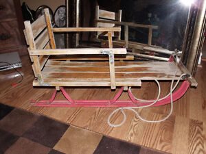 antique sleigh for baby