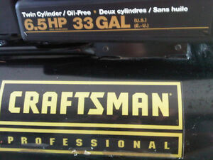 Craftsman 6.5 HP 33 Gallon Professional Air Compressor London Ontario image 1
