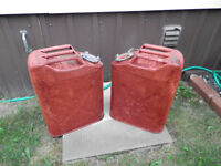 2 - Military/Jeep Style 5 Gallon Gas Cans