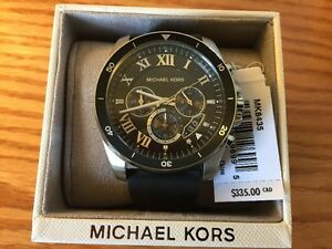 Michael Kors Brecken Chronograph Black Dial  Men's Watch