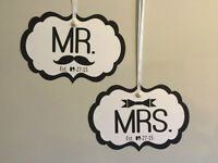 Mr and Mrs Wedding Props ($10)      Watch     |     Share     |