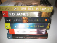 P.D. James Collection of 6 books for $5