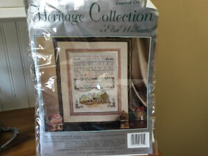 NEW heritage collection Crossstich kit/the cottage sampler