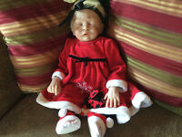Authentic life like reborn baby girl up for adoption..