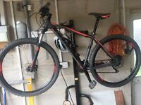 "Cube 29er 29"" wheel mountain bike size large"