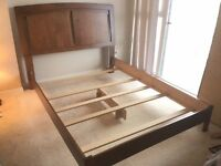 Queen size bed frame, headboard & rail for sale! Price reduced!