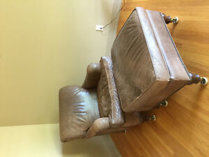 Leather Chair / Ottoman