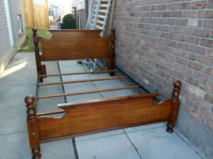 queen size solid wood bed frame for sale #2343434______________