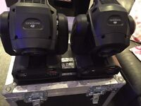 ADJ 50W LED Moving Head's - Inno Spot LED - With Flight Case - Happy To Demo - Fully Working