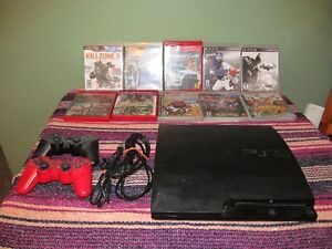 Playstation 3, 10 games, 2 controllers, Move Wand and Camera