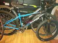 Bikes, frames, tires and rims for sale.