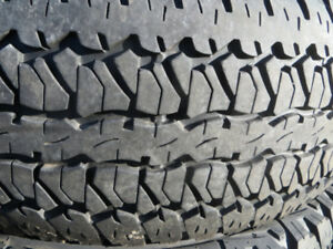 4 p265/70r17 firestone destination at white lettered