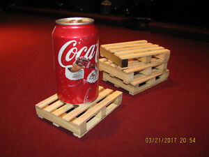 4 NEW replica Pallet drink Coasters & OTHER small projects!