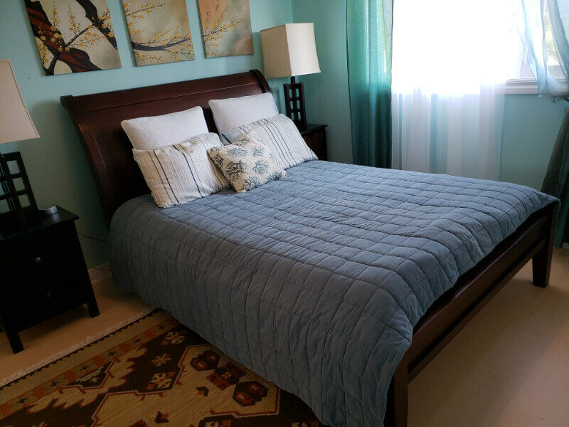 Pottery Barn! Mahogany Solid Wood Queen Bed | Beds ...