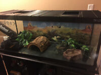 Reptile Tank Terrarium with Stand and Accessories