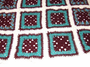 Beautiful Hand Crocheted Afghan #3 - Maroon & Teal - $40.00 Belleville Belleville Area image 5