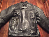 Black Leather Motocycle Jacket