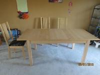 Well Kept IKEA Dining Table Set + 3 Chairs