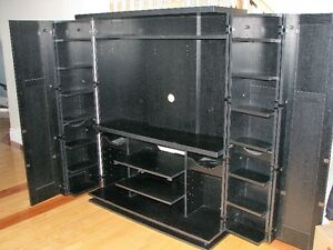 Enclosed TV Entertainment Unit with DVD Storage