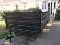 Newly constructed utility trailer 7ft by 12ft