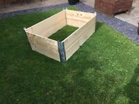 X2 wooden collared raised beds / planters for vegetables, plants