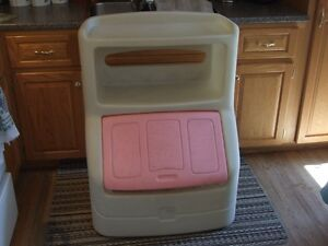 LITTLE TYKES PINK TOY BOX;  $40