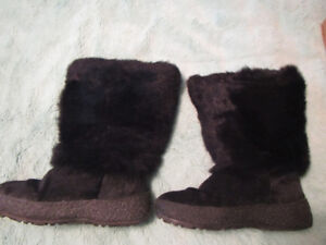 Pajar black warm boots, wool inside, kids size 2, made in Italy