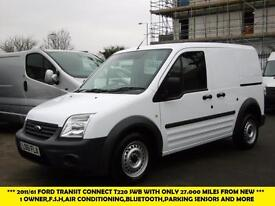 2011 FORD TRANSIT CONNECT T220 SWB DIESEL VAN WITH ONLY 27.000 MILES,AIR CONDITI