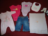 14pcs Newborn Girl Clothing + stuff