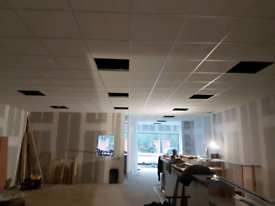 Suspended ceiling and shopfitting